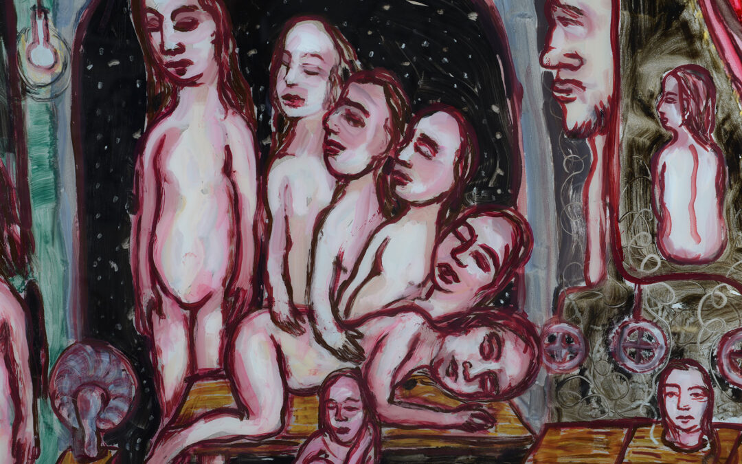 Freud, oil on glass, 104cm x 77cm, Mystery and Imagination Allsop Gallery, 15 July, 20 August